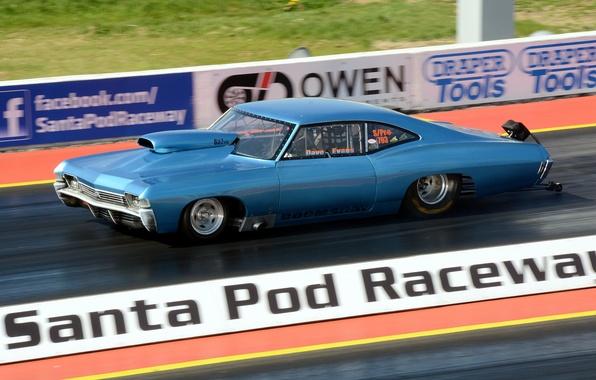 Картинка гонка, Chevrolet, мускул кар, Impala SS, drag racing
