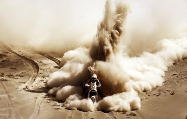 Картинка Песок, Спорт, Мотоцикл, Гонщик, Мото, Rally, Dakar