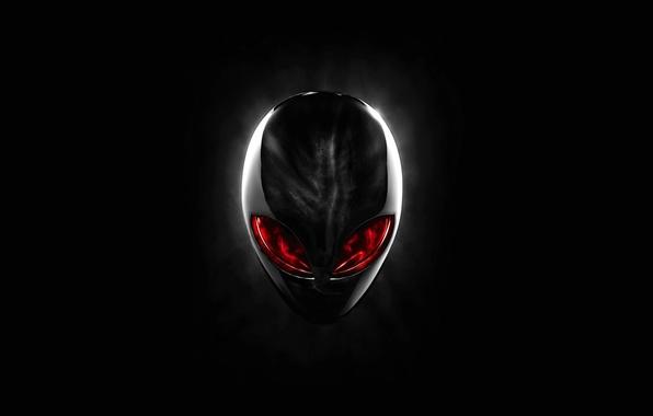 Картинка красный, голова, red, Alien, Alienware, Head, Dell