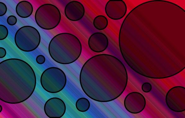 Картинка лучи, свет, линии, абстракция, цвет, круг, кольцо