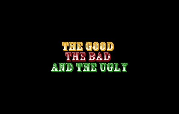 Картинка фильм, логотип, злой, logo, бренд, плохой, Клинт Иствуд, Хороший, минимализм., роли, Ли Ван Клиф, Эли …