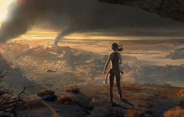 Картинка Девушка, Лара Крофт, Арт, Lara Croft, Rise of the: Tomb Raider