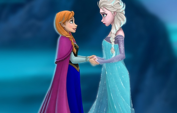 Disney Kindle Fire Wallpaper: Обои Frozen, Disney, сестры, Анна, Anna, платья, Дисней