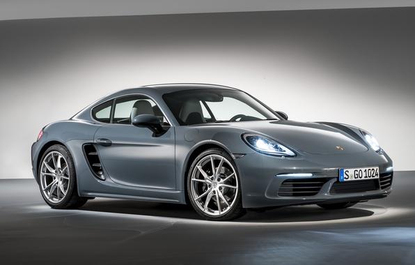 Фото обои порше, фон, Cayman, кайман, Porsche, 718, купе