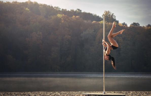 Картинка танец, шест, акробатика, Chris Silya, не стриптиз