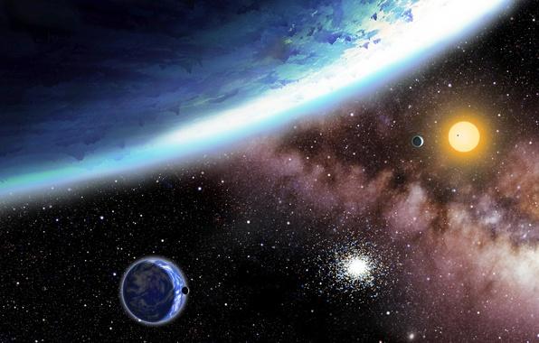 Картинка lights, stars, planets, galaxy, Sci Fi