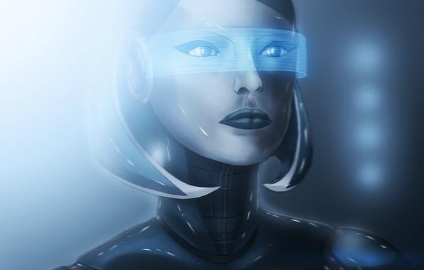Картинка девушка, свет, робот, андроид, mass effect, сузи, edi, Ластовка Дмитрий, BDraw2012