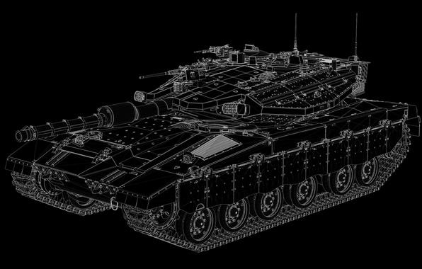 Картинка фон, танк, боевой, Меркава, Merkava-IIID