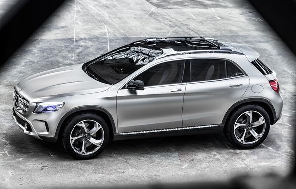 Картинка Concept, Mercedes-Benz, серебристый, автомобиль, мерседес, GLA