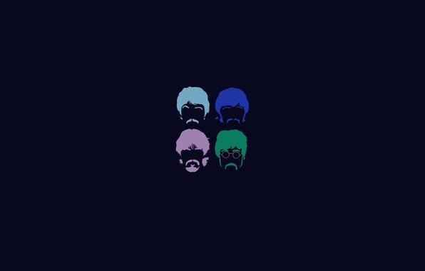 Картинка фон, минимализм, группа, четверо, The Beatles, битлз, четыре, битлс