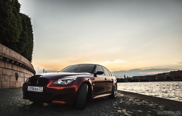Картинка машина, авто, BMW, оптика, auto, E60, 5-series