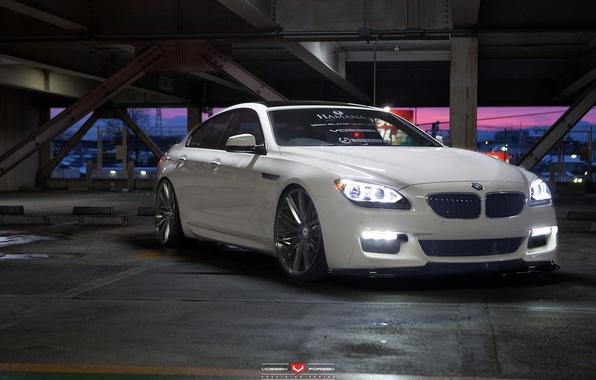 Картинка машина, авто, фары, BMW, БМВ, перед, wheels, диски, auto, 2015, Vossen Wheels, дхо