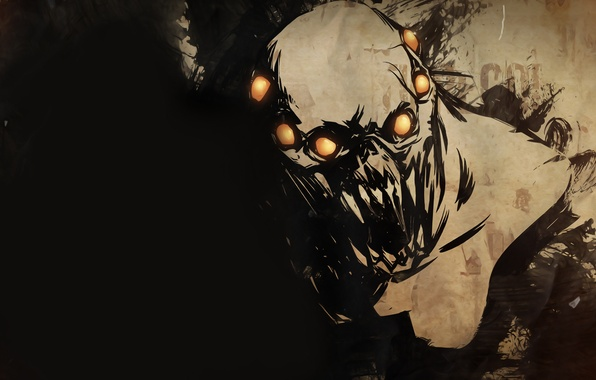Картинка fear, creature, golden balls