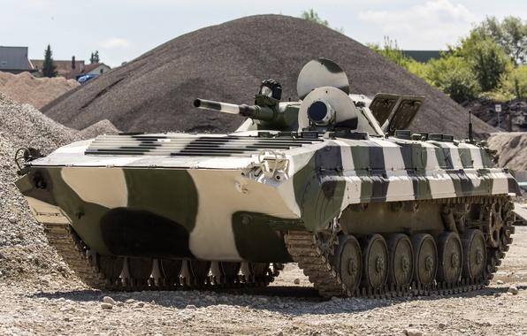 Картинка машина, боевая, советская, бронированная, плавающая, гусеничная, первая, БМП-1, серийная