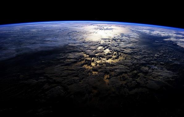 Картинка облака, дом, планета, Земля