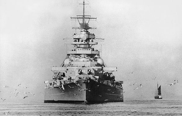 Картинка Линкор, Bismarck, 1939, Бисмарк, немецкий военный флот