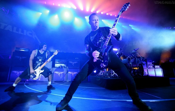 Картинка гитара, концерт, metal, rock, метал, рок, Metallica, James Hetfield, Robert Trujillo, Джеймс Хетфилд, Металика