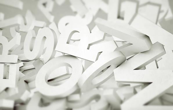 Картинка буквы, фон, белые