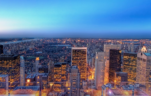 Картинка город, огни, Нью-Йорк, 149