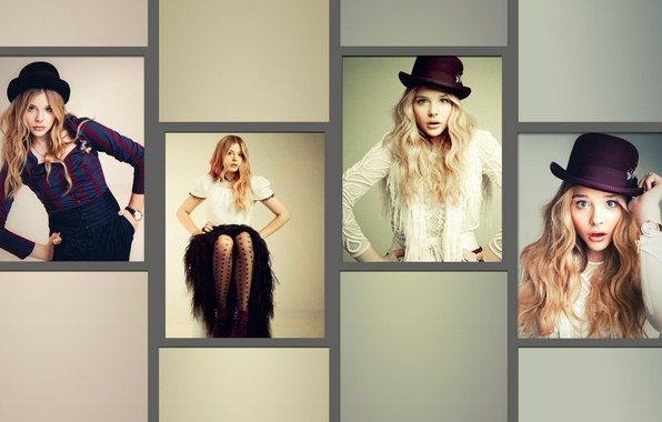 Картинка девушка, коллаж, актриса, Хлоя Грейс Морец, Chloë Grace Moretz, Chloe Moretz, Хлоя Морец