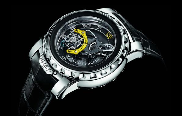 Картинка время, стрелки, часы, циферблат, швейцарские часы, ulysse nardin, ход