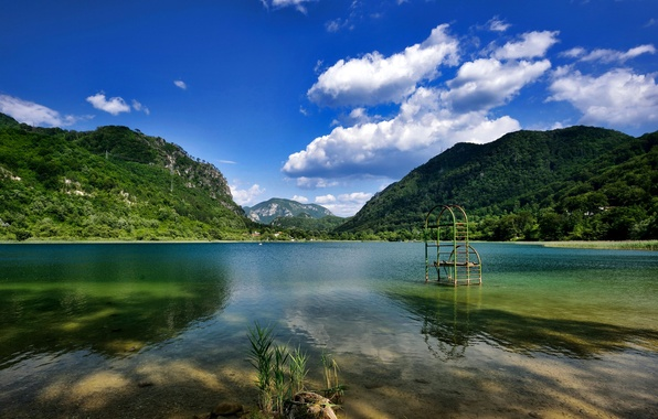 Картинка лес, горы, природа, озеро, дома, Босния Герцеговина, Barocko.
