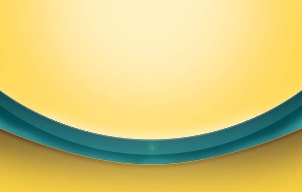 Картинка желтый, фон, полоса, блик, объём, бирюза