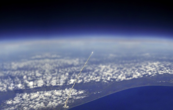 Картинка атмосфера, space, Ракета, запуск, rocket, launching