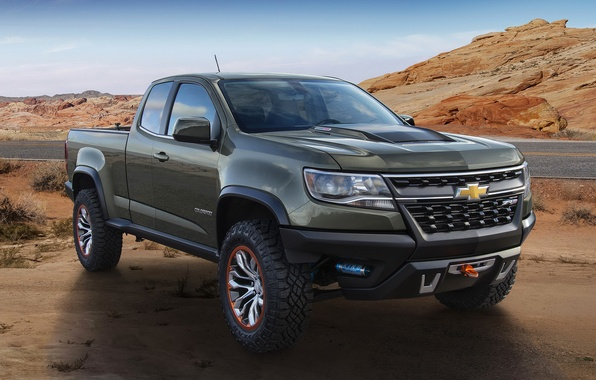 Картинка фото, Chevrolet, автомобиль, металлик, Colorado, 2015, ZR2