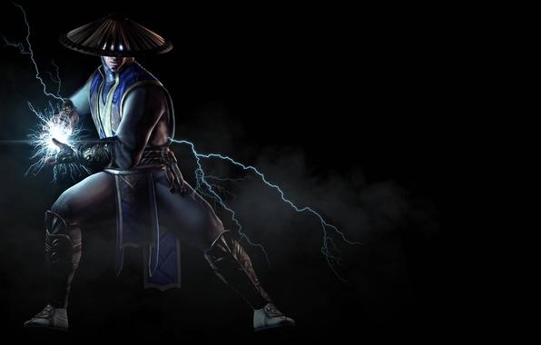 Картинка дым, боец, ток, Raiden, Рейден, Warner Bros. Interactive Entertainment, NetherRealm Studios, Mortal Kombat X