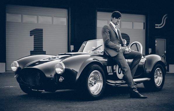 Картинка авто, ретро, мужчина, Vintage