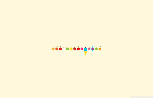 Картинка фон, лимон, apple, яблоко, апельсин, кокос, минимализм, арбуз, мороженое, лайм, леденец, lemon, фрукты, конфета, грейпфрут, …