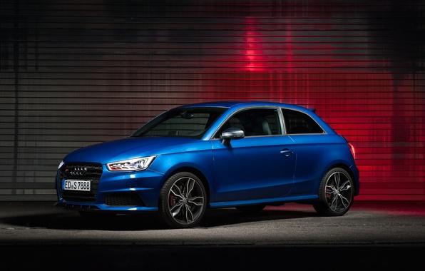 Картинка Audi, синяя, blue