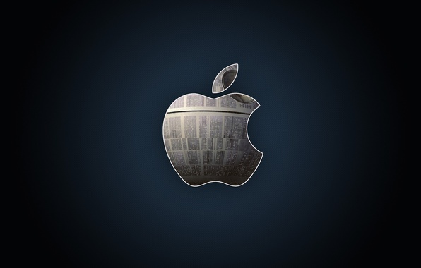 Картинка металл, apple, яблоко, логотип, hi-tech