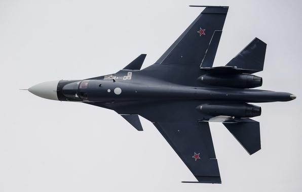 Картинка полет, истребитель, бомбардировщик, Су-34