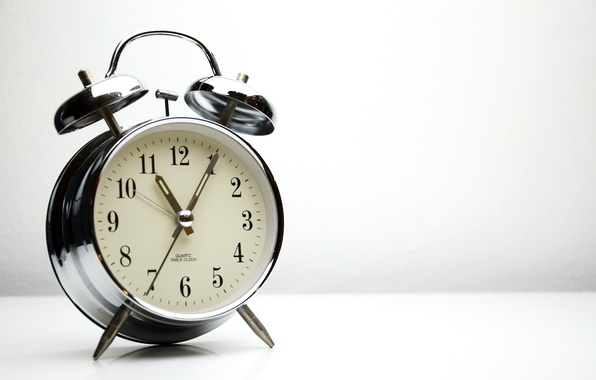 Фото обои retro, metal, alarm clock