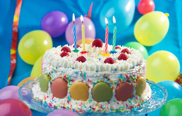 шарики и торт картинки
