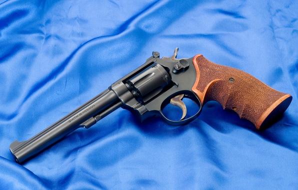 Картинка Обои, Оружие, Gun, Полотно, Револьвер, Smith & Wesson, Смит Вессон, Рукоять, К22, K22