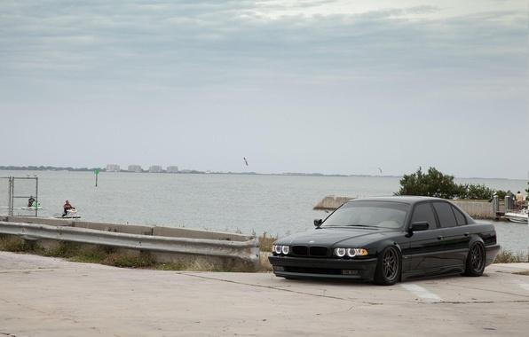 Картинка car, BMW, Тюнинг, Бумер, БМВ, auto, Tuning, E38, lowered