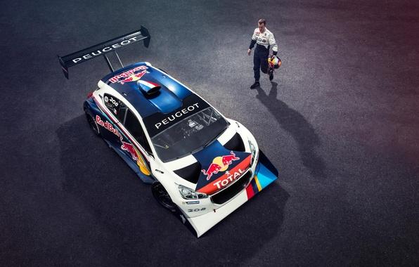 Картинка шлем, спортсмен, Top Gear, Peugeot, Red Bull, гонщик, Total, Sport 208 T16 Pikes Peak