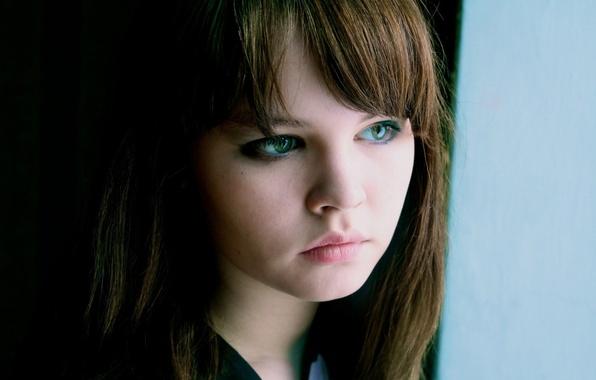 Картинка девушка, лицо, настроение, милая, модель, волосы, губы, шатенка, красивая, симпатичная, русая, Настя, Анастасия Щеглова