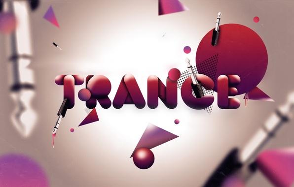 Картинка trance, красные, кружки