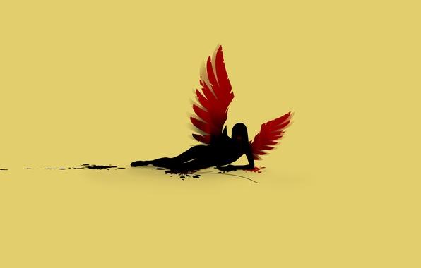 Картинка blood, wings, fallen angel