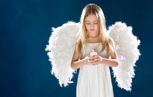 Картинка грусть, девушка, дети, детство, ребенок, крылья, ангел, свечи, милый, girl, wings, sadness, angel, child, cute, …