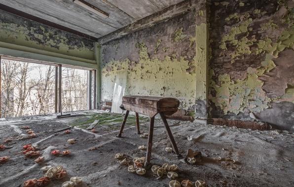 Картинка конь, спорт, зал, Chernobyl, Pripyat