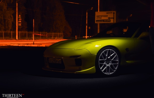 Картинка машина, авто, купе, Мазда, Mazda, диски, auto, RX-7, RX7
