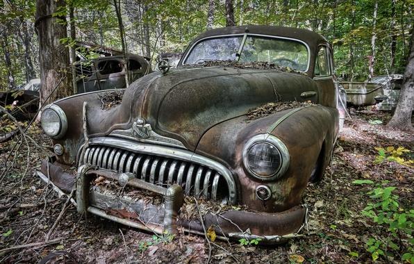 Картинка машина, фон, лом, Buick