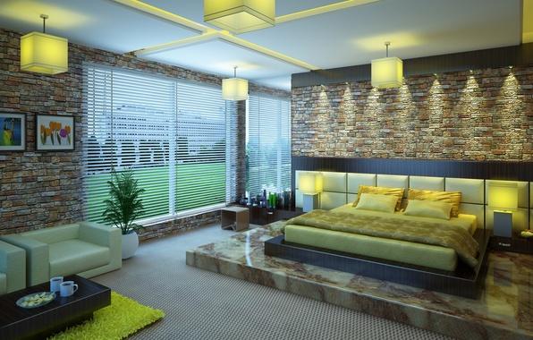 Картинка дизайн, дом, стиль, комната, интерьер, квартира, 3ds max, спальня