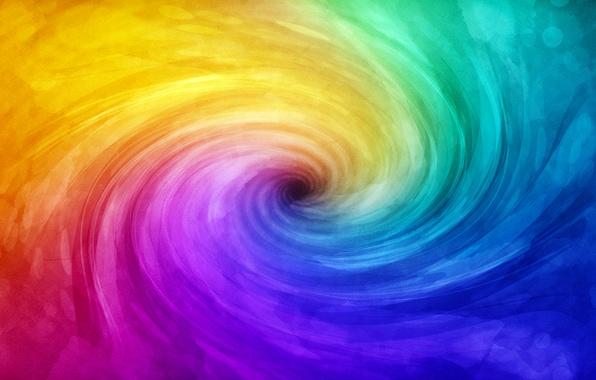 Картинка цвета, свет, краски, спираль, color, paint, spiral