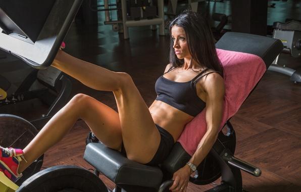 Картинка legs, woman, fitness, gym